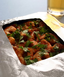 Thai Prawn Curry in Foil